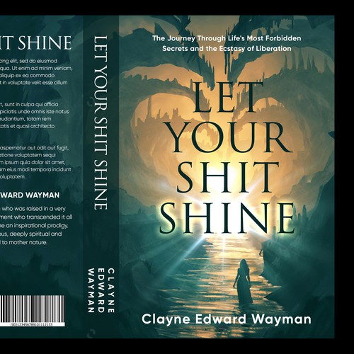 "Heart book cover with the title 'Book Cover design for ""Let Your Shit Shine""'"
