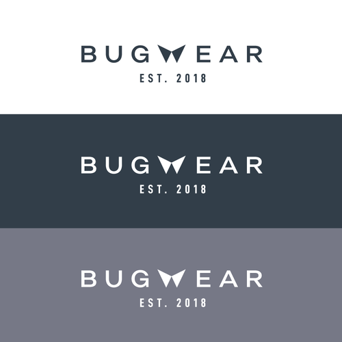 Menswear logo with the title 'Bugwear'