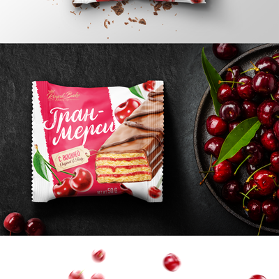 GranMerci cakes, packaging design