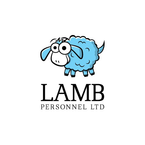 Cheerful design with the title 'Logo design for Lamb Personnel ltd'