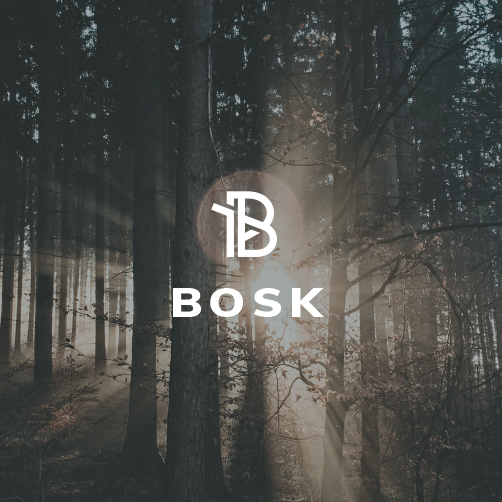 Woods design with the title 'Bosk'