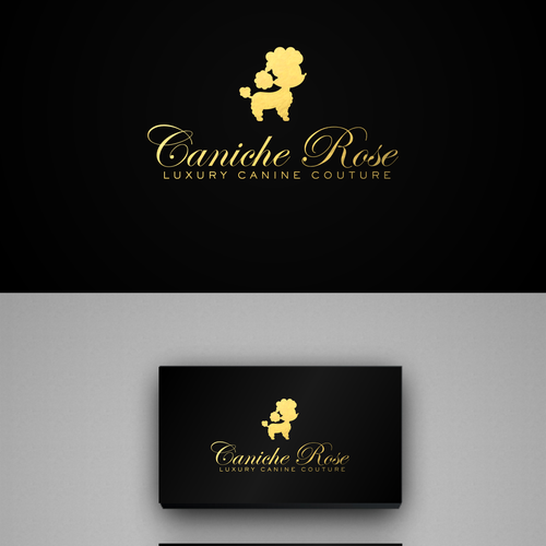 Classy design with the title 'Help Caniche Rose with a new logo and business card'