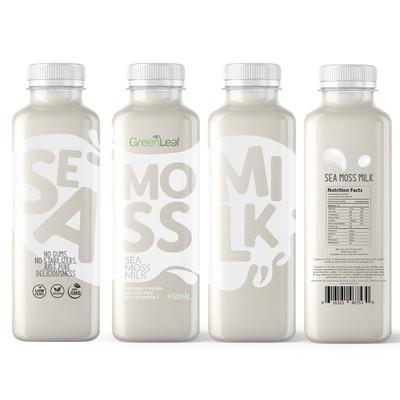 Moss milk package design