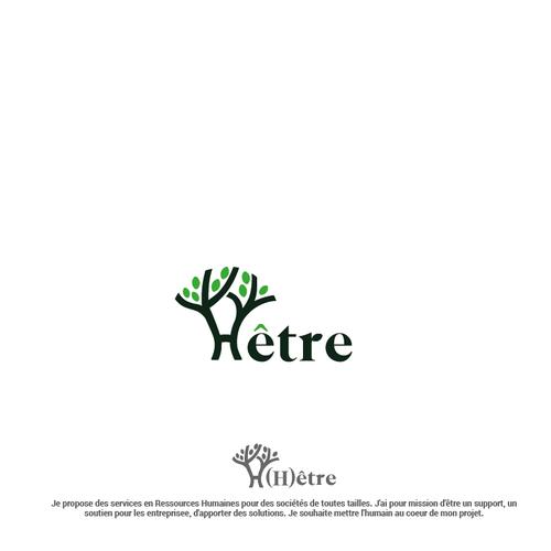 H logo with the title 'Hêtre logo design '