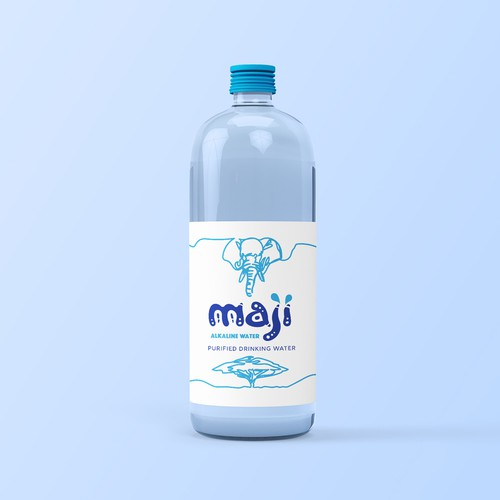 Tree label with the title 'Water packaging design '