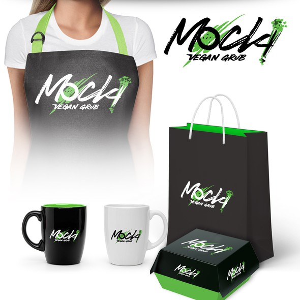 Vegan food logo with the title 'Logo design for Vegan restaurant Mock!'