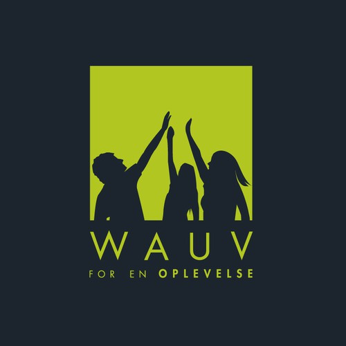 Pictorial logo with the title 'Logo design for WAUV'