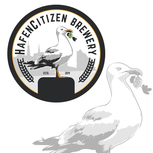 German logo with the title 'HafenCitizen Brewery'