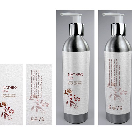 Woman label with the title 'Natheo Spa'
