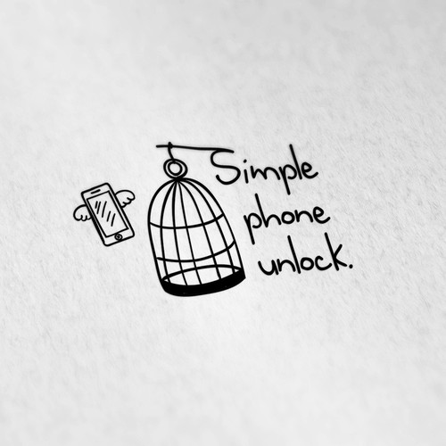 Cage logo with the title 'Simple Phone Unlock'