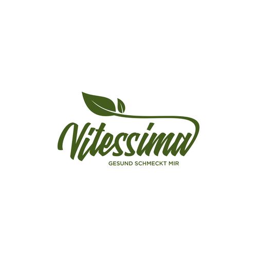 Literature logo with the title 'Erstellen Sie ein innovatives Logo für ein innovatives Produkt: Vitessima'