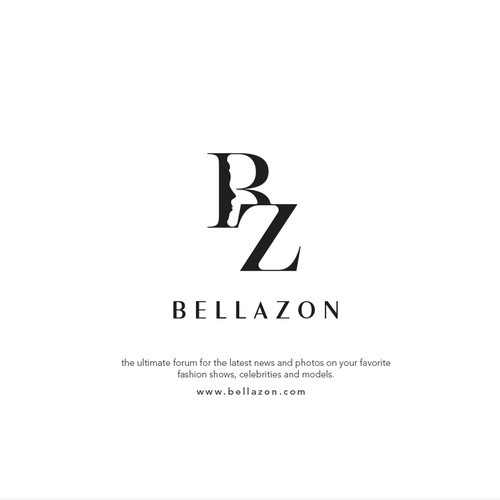 Sleek logo with the title 'BELLAZON'