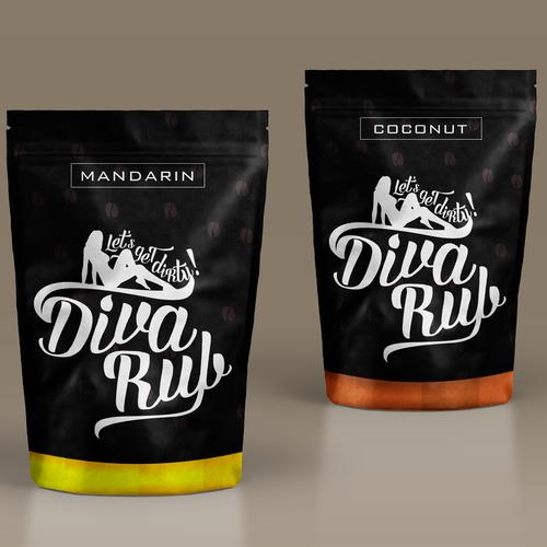 Scrub design with the title 'Label for Coffee Scrub'