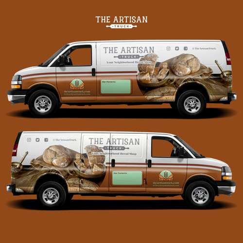Chevrolet design with the title 'Van Wrap Design for The Artisan Truck '