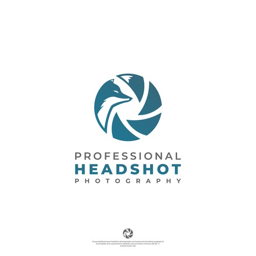 Shutter logo with the title 'Professional HEADSHOT photography'