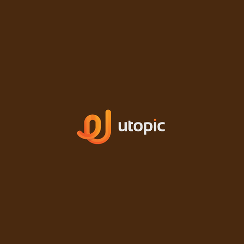U design with the title 'Logo concept for u topic'