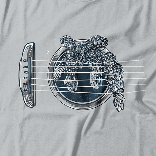 Bird t-shirt with the title 'Feel the Harmony '