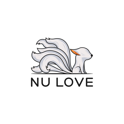 Mythology logo with the title 'Nine tailed fox logo design for Nu Love'