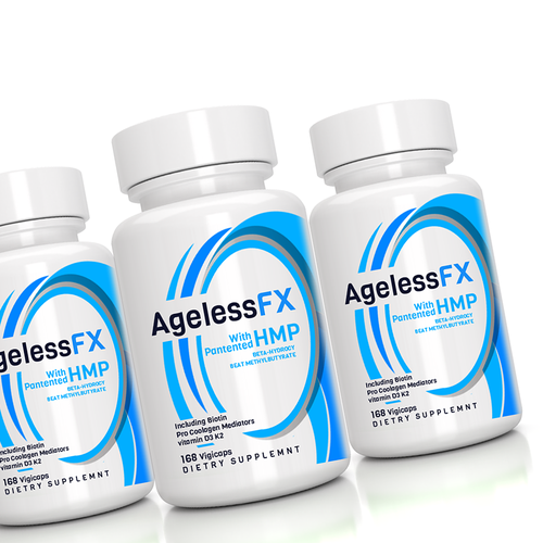 Nutrition packaging with the title 'In contest Anti-aging nutritional supplement'