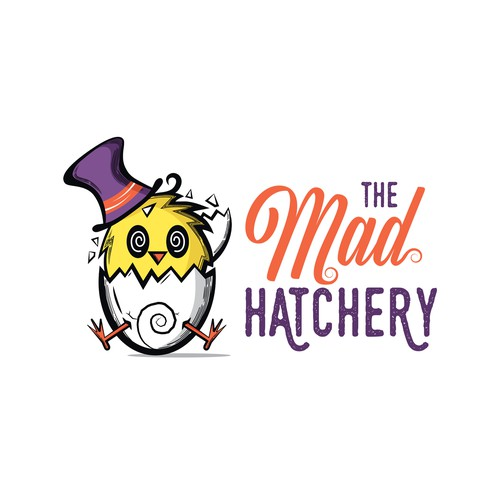 Alice in Wonderland design with the title 'The Mad Hatchery'