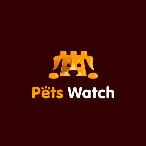 Puppy logo with the title 'Pets Watch'