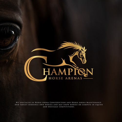 Horse racing design with the title 'Horse Logo'