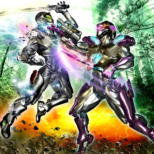 Battle design with the title 'Fantasy / sci-fi illustration'