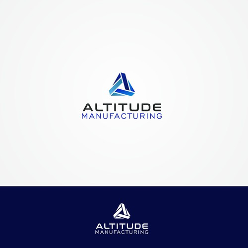 Futuristic brand with the title 'Geometric logo for Altitude manufacturing'