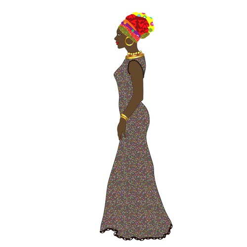 Beautiful illustration with the title 'beautiful woman'