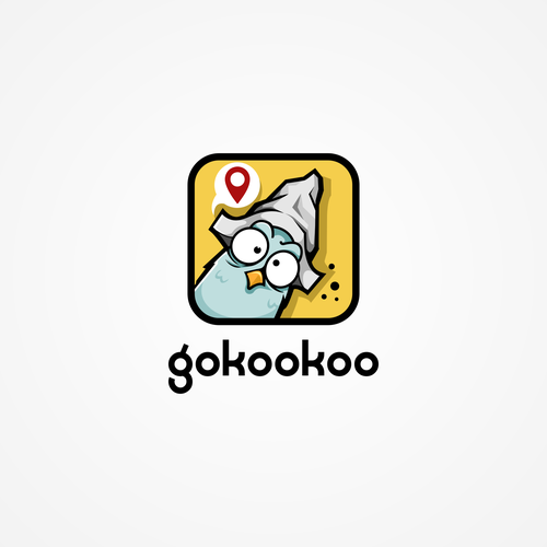 Pigeon logo with the title 'gokookoo'
