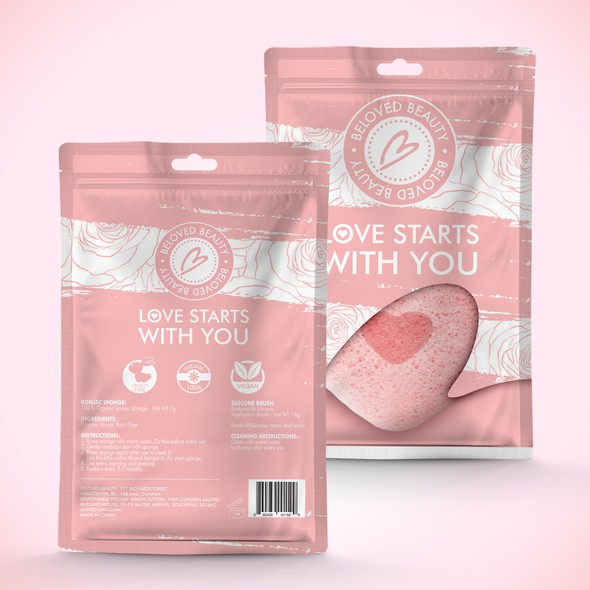 Lotion packaging with the title 'Package and Logo design'