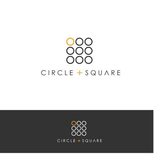 Interior design logo with the title 'circle square'