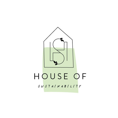 Branch design with the title 'Monogram house logo'