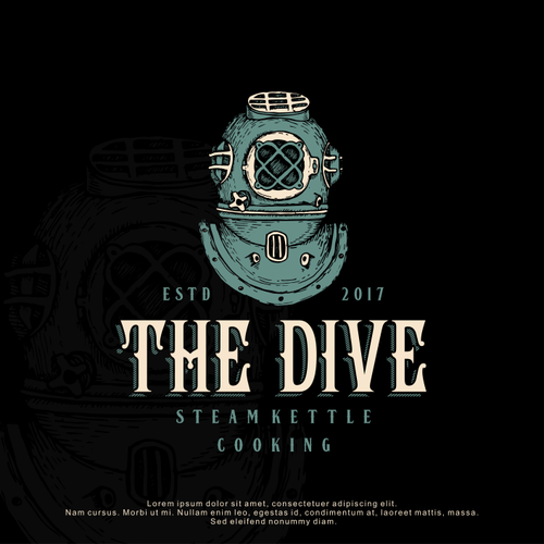 Detailed design with the title 'Logo Design for The Dive SKC'