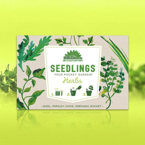 Vegetable packaging with the title 'Creative packaging for new gardening product'