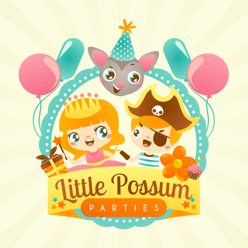 Party design with the title 'Little Possum Parties needs a new logo'