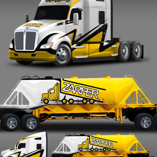 Best design with the title 'ZARFER TRUCK DESIGN'
