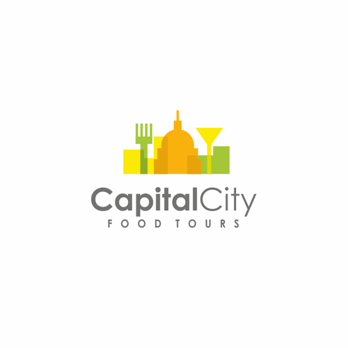 Tour design with the title 'Logo concept for a walking food tour'