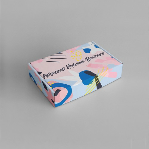 Illustration packaging with the title 'Mailing box abstract design'
