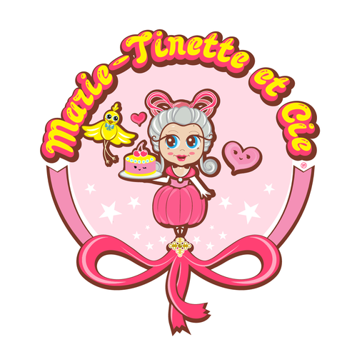 Cake logo with the title 'Kawaii Cute Character'
