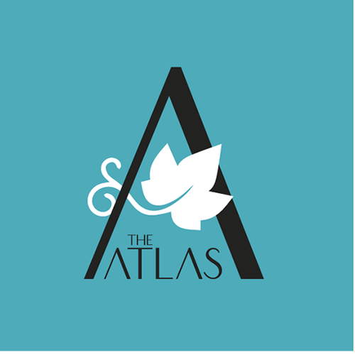 Atlas logo with the title 'Logo para hotel lujoso ubicado en una zona de viñedos'