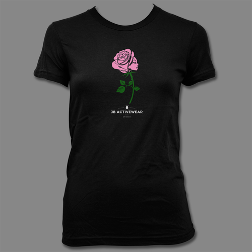 Rose t-shirt with the title 'JB ACTIVEWEAR'