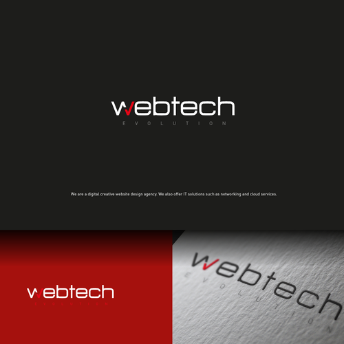 Agency logo with the title 'WebTech'