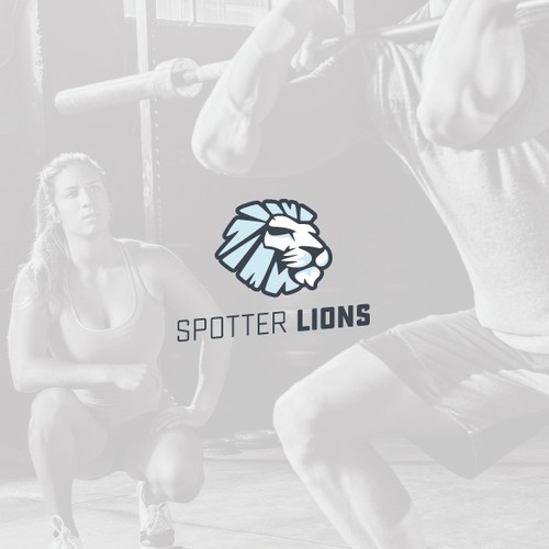 Tribal lion logo with the title 'Modern and minimal lion logo'