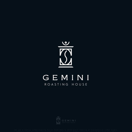 Exclusive logo with the title 'Gemini - Roasting house'