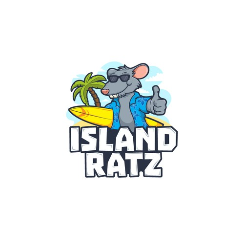 Island logo with the title 'Island Ratz'