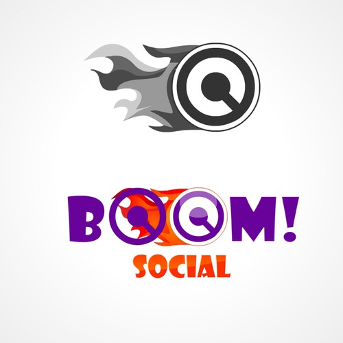 Boom design with the title 'New logo wanted for Boom! Social'