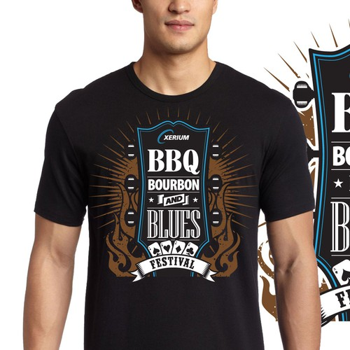 Festival t-shirt with the title 'bbq tshirt'