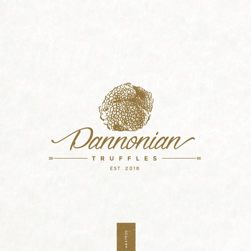 Golden design with the title 'Pannonian Truffles'