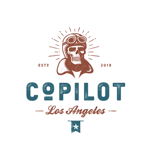 Helmet logo with the title 'CoPilot '